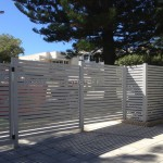 White Aluminium Slat Double Gates